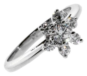 Tiffany & Co. Tiffany & Co Flower Diamond Platinum Ring