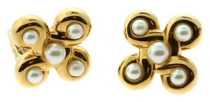 Chanel Chanel Pearl Yellow Gold Earrings