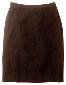 Donna Karan Karen Wool Pencil Skirt black