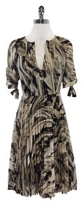Karen Millen short dress Taupe Black 3/4 Sleeve on Tradesy