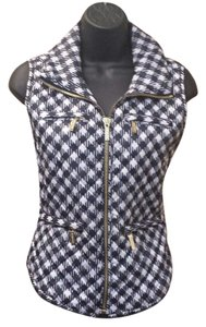 Michael Kors Quilted Vest T Shirt navy and white