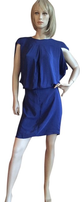Preload https://img-static.tradesy.com/item/17707723/blue-silk-mid-length-cocktail-dress-size-8-m-0-1-650-650.jpg
