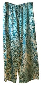 Natori Wide Leg Pants Multi color Aqua