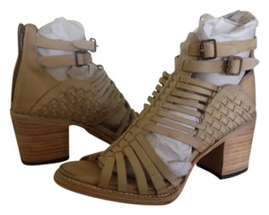 FreeBird By Steven Todum Bootie Natural Leather Natural Distressed Sandals
