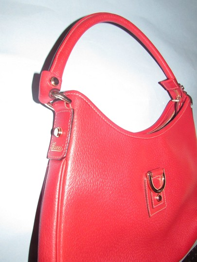 Gucci Gold Hardware Mint Vintage Very Clean Lining Pefect Pop Of Color Dressy Or Casual Hobo Bag Image 5