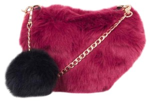Topshop Black, Burgundy, Gold Clutch