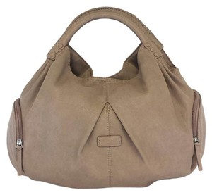 Ecco Taupe Leather Hobo Bag