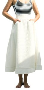 C/meo Collective Midi Full Flare 50s Skirt white