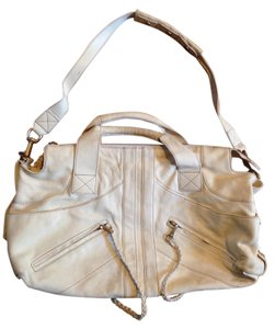 Andrew Marc Leather Satchel in cream