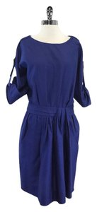 Lela Rose short dress Cobalt Blue 3/4 Sleeve Cotton on Tradesy