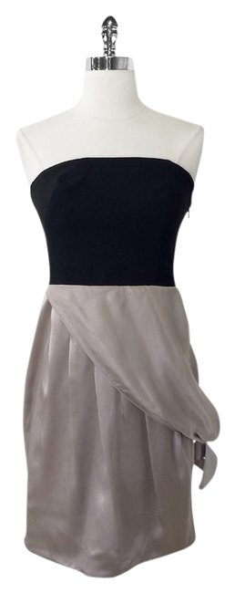 Preload https://item5.tradesy.com/images/black-halo-taupe-strapless-w-draped-silk-skirt-knee-length-cocktail-dress-size-6-s-1770909-0-0.jpg?width=400&height=650