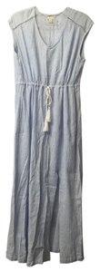 Blue Maxi Dress by J.Crew Striped Cotton Maxi