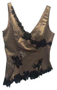 Adrianna Papell Top Gold and Black