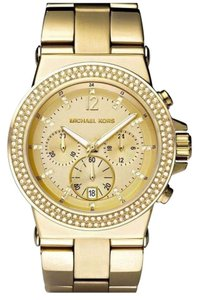 Michael Kors Michael Kors Dylan MK5386 Gold Tone Stainless Glitz Chronograph Watch