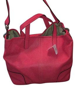 Coach Tote in Hot Coral