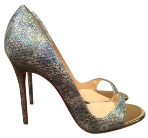 Christian Louboutin Toboggan Stiletto Glitter Pumps