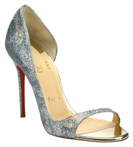 Christian Louboutin Toboggan Glitter Stiletto Multi Pumps