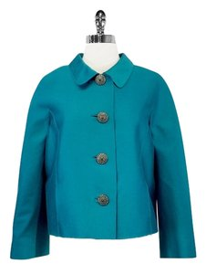 Oscar de la Renta Bright teal Womens Jean Jacket