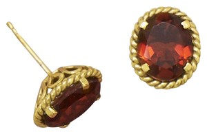 Other 14 Karat Gold Plated Brass Garnet Doublet Earrings