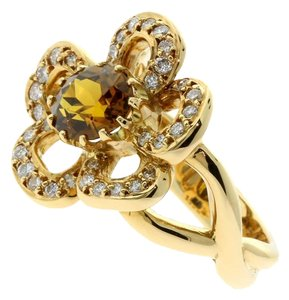Hermès Hermes Diamond, Citrine Flower Gold Ring
