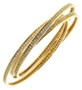 Cartier Cartier Trinity Full Diamond Gold Bangle