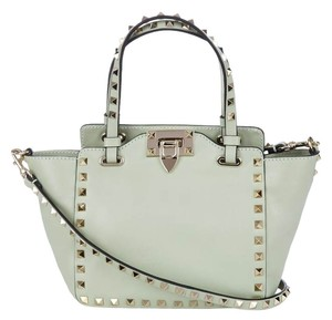 Valentino Studded Spikes Tote Cross Body Bag