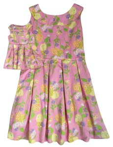 American Girl short dress Pink, yellow, green, purple and white on Tradesy