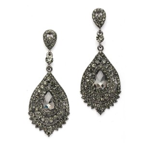Mariell Dramatic Black Diamond Crystal Statement Earrings 4529e-bd