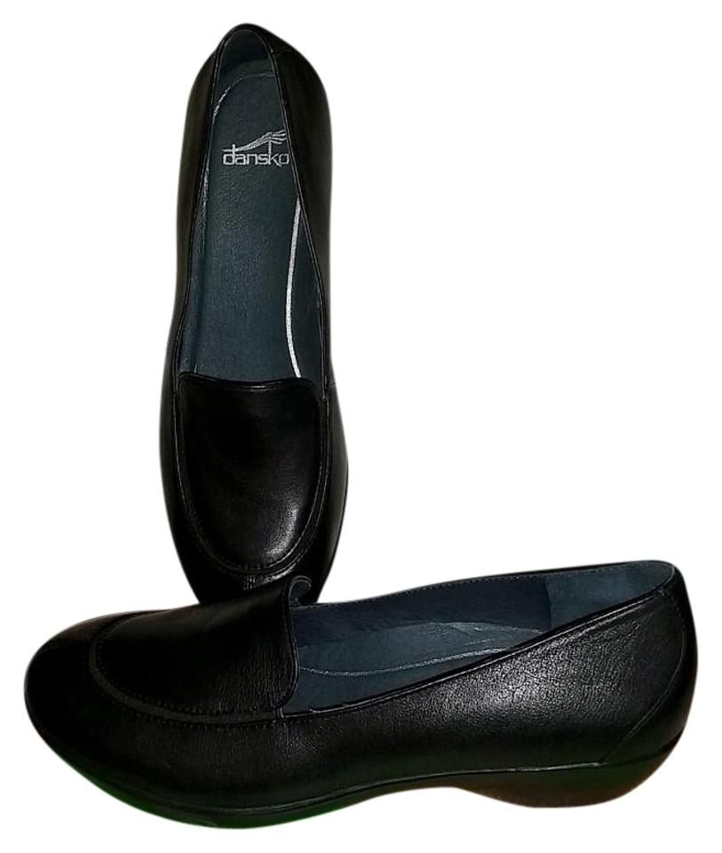 Dansko Black New Loafer 40 (Us 9.5-10) Debra Nappa Loafer New Leather Mules/Slides 7f74c1