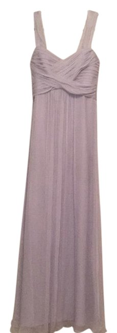 Item - Dove Gray Convertible Crinkled Silk Chiffon Gown Long Formal Dress Size 10 (M)