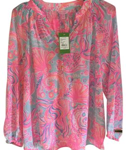 Lilly Pulitzer Top Pink Pout - Too Much Bubbly