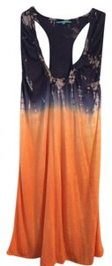 Anama short dress Blue/Orange Tie Dye on Tradesy
