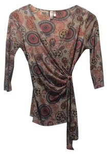 Sweet Pea by Stacy Frati Top Black/red/yellow paisley design.