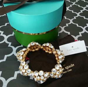 Kate Spade Gold Putting On The Ritz Oval Hinge Bangle Bracelet