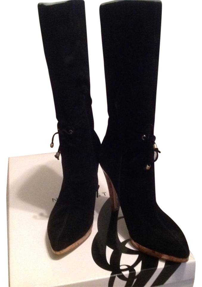 Nine Heel West Black Ginger Suede Heel Nine Boots/Booties 576f39