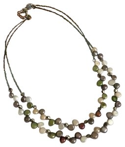 Lia Sophia Tahitian Freshwater Pearl AB Crystal Double Strand Necklace - Retired