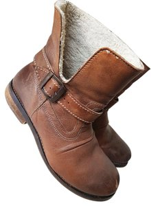 ALDO Leather Buckle Ankle Brown Boots