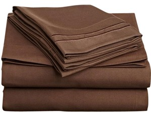 Clara Clark 4 PC Queen Sheets Set, Chocolate Brown