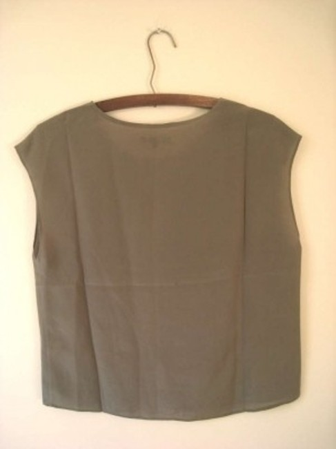 Madewell Silk Boxy Loose Lightweight Sheer Top Grey