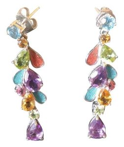 Macy's Multi Gemstone Drop Earrings