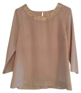 J.Crew Sequin Sheer Night Out Work Top Champagne