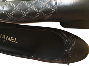 Chanel Black/gray Flats
