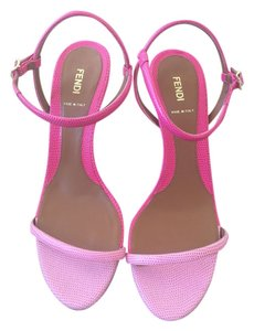 Fendi Leather Pink Sandals