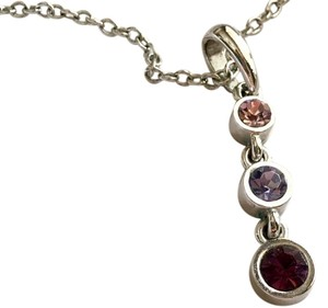 Lia Sophia Plumeria Purple Drop Necklace (retired)