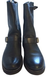 Frye Motorcycle Black Leather Boots