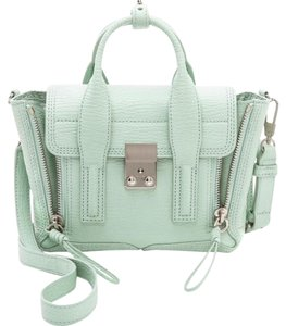 3.1 Phillip Lim Leather Mini Crossbody Satchel in Sage