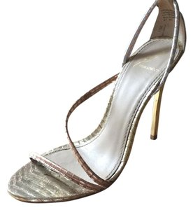 Brian Atwood Gold, silver, rose gold Sandals