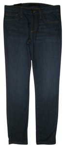 JOE'S Jeans 5 Pocket Style Zip Fly Cotton/poly/lycra Capri/Cropped Denim-Dark Rinse