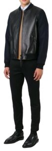 Valentino Navy Black Leather Jacket