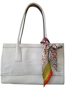 Coach Leather Satchel in White